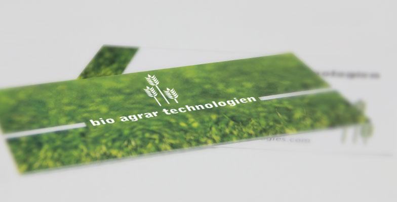 Visitenkarte Für Bio Agrar Technologien