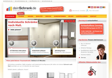 internetseite mit konfigurator f r. Black Bedroom Furniture Sets. Home Design Ideas